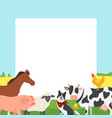 farm video photo frame vector image vector image
