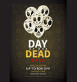 festive flyer day dead sale vector image