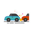 flat color icon - car crash vector image