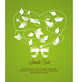 flower and heart shape vector image vector image