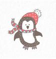 funny penguin nursery art minimalist vector image vector image