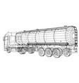 gasoline tanker oil trailer eps 10 format vector image vector image