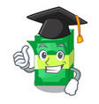 graduation stack of dollars isolated on mascot vector image