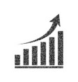 growing graph sign black icon from many vector image vector image