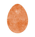 grunge color egg vector image vector image