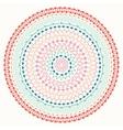 Hand drawn mandala ornament Geometric pattern vector image