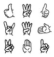 hand drawn of hand gesture vector image vector image