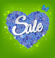 heart from flowers sale poster vector image vector image