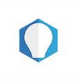hexagon bulb lamp logo vector image