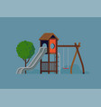 kids playground design element vector image vector image