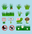 lawn signs set for garden vector image vector image