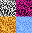 leopard skin seamless repeated pattern set 4 vector image