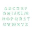 letters lettering pattern logo groceries vector image vector image