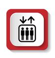 Lift symbol vector image vector image