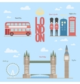 London travel info graphic of vector image vector image
