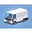 Low poly white cargo van vector image vector image