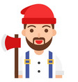 lumberjack icon profession and job vector image vector image