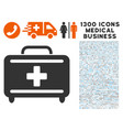 medical briefcase icon with 1300 medical business vector image vector image