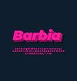modern alphabet 3d light pink bold text effect or vector image vector image