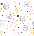 modern sport pattern with balls on white vector image