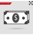 Money icon Flat Style with red vector image vector image