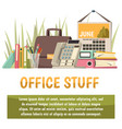 office flat orthogonal background vector image vector image
