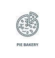 pie bakery line icon linear concept vector image vector image