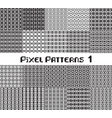 pixel pattern seamless black and white color vector image
