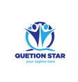 question star logo designs vector image
