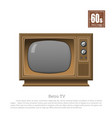 retro tv in realistic style on white background vector image vector image