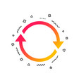 rotation icon repeat symbol refresh sign vector image vector image
