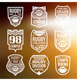 Rugby emblems vector image vector image