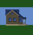 rustic wooden cottage house vector image vector image