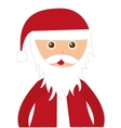santa claus character isolated icon vector image
