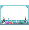 Science tool and frame vector image vector image