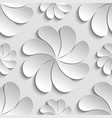 seamless pattern white 3d paper flower vector image vector image