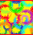 seamless texture of bright colored gears and vector image