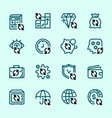 set icons banks and money transactions vector image vector image
