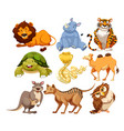 set of wild animals vector image vector image