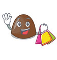 shopping chocolate candies character cartoon vector image