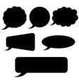 speech bubbles plain black silhouette signs vector image