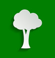 tree sign paper whitish icon vector image vector image