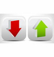 up and down arrows in green and red editable vector image vector image