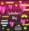 valentines day greeting card paper cut out hearts vector image vector image