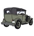 Vintage green cabriolet vector image vector image