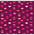 Woman lips seamless pattern vector image