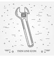 Wrench Icon Wrench Icon Wrench Icon Drawing Wrenc vector image vector image