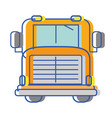 yellow school bus to children transportation vector image vector image