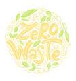 zero waste concept vector image vector image