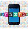 Smartphone with Internet Icons Technology vector image
